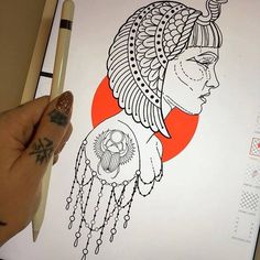 Megan Massacre - tattoo  Cleopatra