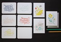 Looped Lettering and Floral Series by Meg Gleason, via Flickr