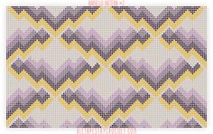 Bargello Pattern #2 - Free Tapestry Crochet Pattern from AllTapestryCrochet.com