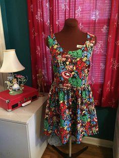 Avengers dress  custom sizes  Limited Fabric by foureyedgirl