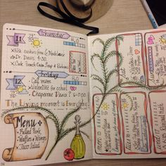 Bullet journals.  When my Bullet Journal grows up, it wants to be just like this one.  ;-)