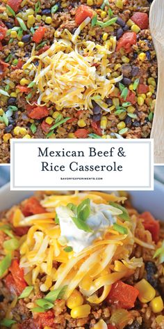 Mexican Beef and Rice Casserole is an easy weeknight recipe using ground beef, t. Mexican Beef and Rice Casserole is an easy weeknight recipe using ground beef, t. Ground Beef Rice, Ground Beef And Potatoes, Healthy Ground Beef, Ground Beef Tacos, Beef And Rice, Ground Beef Recipes Mexican, Recipes Using Ground Beef, Ground Beef Recipes For Dinner, Dinner With Ground Beef