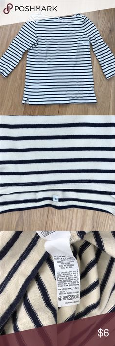 Uniqlo striped top Worn a lot but still has some life.  Fits like XS in my opinion.  Thick cotton. Uniqlo Tops