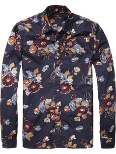 Printed Shirt | Shirt l/s | Men's Clothing at Scotch & Soda