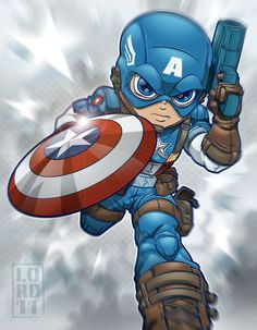 Lil Avengers - Captain America by *lordmesa