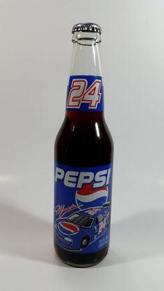 1993 Pepsi Cola Racing NASCAR Gordon Longneck Glass Beverage Bottle Full Never Opened Local Pickup OnlyExcellent condition. Pop Bottles, Glass Bottles, Nascar 24, Cola Wars, Pop Drink, Bottle Drawing, Retail Signs, Pop Cans, Vintage Packaging