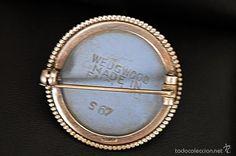 Antigüedades: 1930 - ANTIGUO BOCHE CAMAFEO WEDGWOOD Y PLATA. PUNZONES Y REVERSO: WEDWOOD MADE IN ENGLAND & S 67 - Foto 3 - 58136844