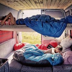 Like the idea of a bunk bed, could be used as extra storage for soft gear, bags, etc when someone was not sleeping in it