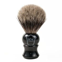 Parker Safety Razor 'Long Loft' Pure Badger Bristle Shaving Brush with Ebony Handle & Free Stand, Ivory Badger Shaving Brush, Shaving Soap, Hand Therapy, Safety Razor, Hair Brush, Health And Beauty, Pure Products, 100 Pure