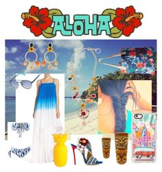 """""""Hawaii"""" by mariana-gamba ❤ liked on Polyvore featuring Adelyn Rae, Dsquared2, Dolce&Gabbana, Marc by Marc Jacobs, Roxy, Casetify and Sunnylife"""