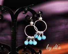 #summer #hit #sterlingsilver #earrings with #turqouise