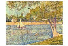 "Artdash® Decorative Fine Art Reproduction ~ ""The Seine at Grande Jatte, Spring"" by Georges Seurat ArtDash® http://www.amazon.com/dp/B00TYKH3KW/ref=cm_sw_r_pi_dp_.0n7ub0D2FZPK"