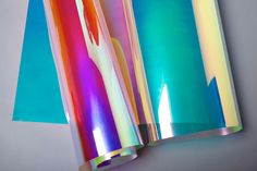 3M Dichroic Glass Finishes come in two different color waves: Blaze (left) and Chill (right)