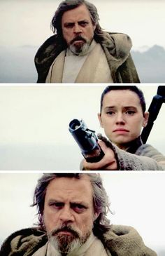 This moment was so powerful with the music. You can almost hear Rey asking Luke to take this burden from her.