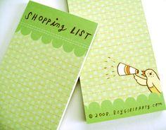 super cute bird shopping list.