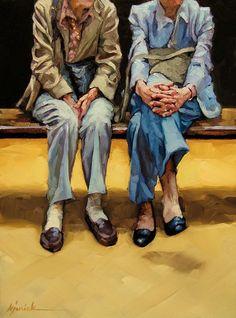 "Daily Paintworks - ""Hands of Time"" - Original Fine Art for Sale - © Karin Jurick Painting People, Figure Painting, Figurative Kunst, Atlanta, Art Themes, Art For Art Sake, Couple Art, Anime Comics, Fine Art Gallery"