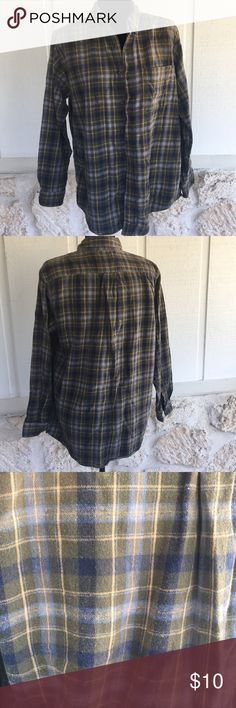 Green, blue, grey & yellow men's flannel shirt ✅I ship same or next day ✅Bundle for discount Shirts Casual Button Down Shirts