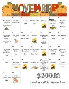 A Month Of Meals On A Budget | April 2015 Meal Plan | 30 Days of Dinners for $151 - Mom's Bistro