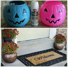 Easy pumpkin treat basket makeover.