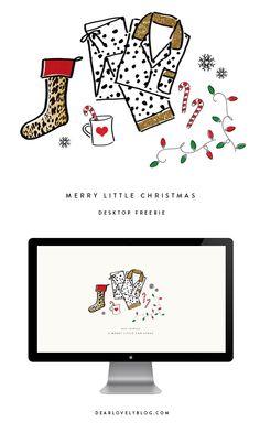 Merry Little Christmas Desktop Freebie via Dear Lovely