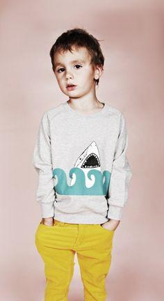 Mini Rodini SS12 Wild At Heart Shark Sweater