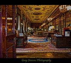 chatsworth-house-hdr-flickr.jpg (1500×1337)     This room, once a Long Gallery, was made into a library in 1815. There are 17,000 books (volumes) in there!  The Chatsworth House on the site today was built by the first Duke in Classical style between 1686 and 1707, with the Library and North Wing added by the 6th Duke between 1790 and 1858.