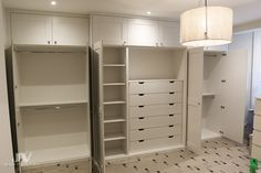Built in wardrobes in the bedroom fitted around fireplace. Bespoke cupboards design and Idea how to cover your chimney breast with wardrobe storage space Alcove Wardrobe, Bedroom Built In Wardrobe, Wardrobe Storage, Bedroom Storage, Master Bedroom, Bedroom Alcove, Storage Headboard, Wardrobe Room, Baby Bedroom