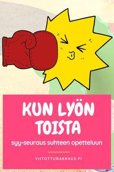 Kun lyön toista - Viitottu Rakkaus Behaviour Management, Behavior, Finnish Language, Social Skills For Kids, Occupational Therapy, Special Education, Kids Learning, Crafts For Kids, Parenting