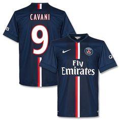Camiseta del PSG 2014-2015 Local + Cavani 9 (Estilo Fan)
