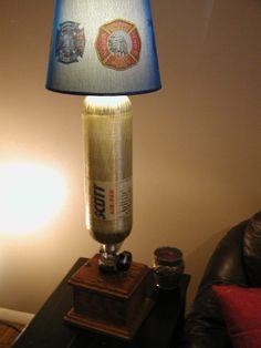 Scba lamp with custom designed shade this lamp features a quad usb scba lamp with custom designed shade this lamp features a quad usb charge port built aloadofball Choice Image