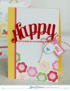 Tiny Tags Revisited - Birthday Wish Card by Betsy Veldman for Papertrey Ink (April 2014)