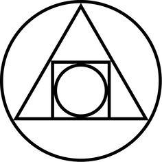 """""""Cuadratura del círculo"""": un símbolo alquímico (siglo XVII) de la creación de la piedra filosofal. De Frater5 de Wikipedia en inglés - Transferido desdeen.wikipediaa Commons., Dominio público, https://commons.wikimedia.org/w/index.php?curid=2200726"""