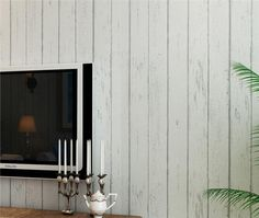 Toprate Papel pintado imitación madera,color beige y gris