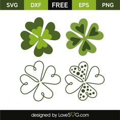 *** FREE SVG CUT FILE for Cricut, Silhouette and more *** Clovers
