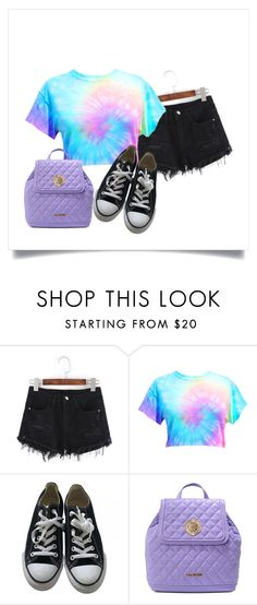 """""""Holaaaaaaa"""" by rusher-decorazon on Polyvore featuring moda, Converse y Love Moschino"""