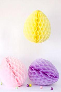 Honeycomb Eggs DIY