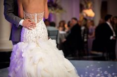 MOONLIGHT Bride Christina in Couture Style H1250, beaded sheer back, buttons along zipper, mermaid wedding dress with ruffle skirt, unique bridal gown, wedding photography, Joe Dantone Photography