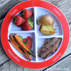 Slow cooked beef carrots strawberries and potatoes. Protein Snacks, Healthy Snacks, Healthy Toddler Meals, Kids Meals, Toddler Dinners, Toddler Lunches, Baby Food Recipes, Healthy Dinner Recipes, Toddler Recipes