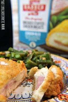 Barber Foods Chicken Cordon Bleu & Sauteed Green Beans Recipe #SimplySpecialMeals #ad