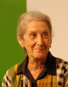 "Nadine Gordimer is a South African writer, political activist and recipient of the 1991 Nobel Prize in Literature, when she was recognised as a woman ""who through her magnificent epic writing has – in the words of Alfred Nobel – been of very great benefit to humanity""."