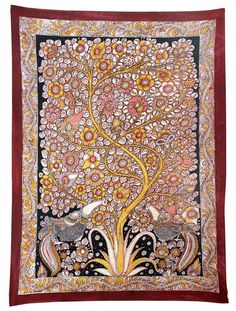 Tree of Life - India - Madhubani Painting on Hand Made Paper