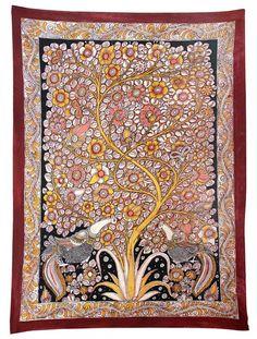 Tree of Life - India - Madhubani Painting on Hand Made Paper