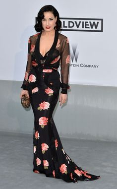 The absolute best of Cannes red carpet fashion: Dita Von Teese in Blumarine in 2014.