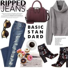 Style This Trend: Ripped Jeans by helenevlacho on Polyvore featuring Isabel Marant, Alexander Wang, Wildfox, Melissa, rippedjeans and contestentry