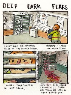 Illustrator Fran Krause turns people's deepest and darkest fears into comics.
