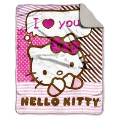 "Northwest Company 40-Inch-by-50-Inch Micro Sherpa Throw Blanket, Hello Kitty ""Say Hellow Kitty"" Design by Northwest, http://www.amazon.com/dp/B004S9SCKO/ref=cm_sw_r_pi_dp_exbYpb1RMTMRV"