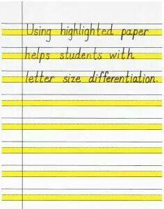 for Improving Handwriting Using highlighted paper and other strategies for improving handwriting.Using highlighted paper and other strategies for improving handwriting. 1st Grade Writing, Kindergarten Writing, Teaching Writing, Teaching Resources, Hand Writing, Writing Skills, Teaching Ideas, Writing Strategies, Writing Process