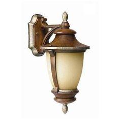 Hampton Bay Wall-Mount 1-Light Outdoor Mossoro Walnut Lantern-23217 - The Home Depot