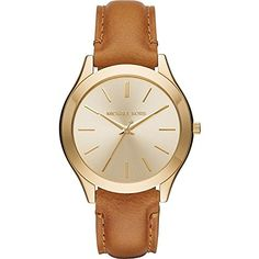 Michael Kors Womens Slim Runway Brown Watch MK2465 ** Click on the image for additional details.