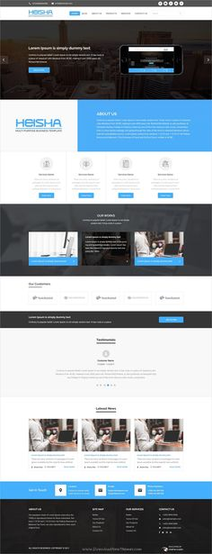 Heisha is a wonderful #Photoshop template for business and #corporate website with 5 homepage layouts and 35 organized PSD files download now➩ https://themeforest.net/item/heisha-bussiness-and-corporations-psd-template/19636422?ref=Datasata